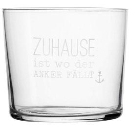 """Wasserglas """"zu Hause ist wo..."""""""