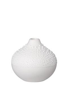 Perlenvase weiß 7x6,5cm