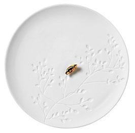 Porzellangeschichten Teller Vogel D:14cm