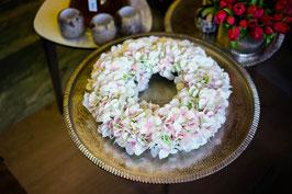 Hortensienkranz weiß-rosa 30/45cm