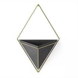 "Wandvase ""Trigg"" schwarz/gold L"