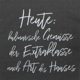 """Serviette """"kulinarische Genüsse"""" 33x33cm"""