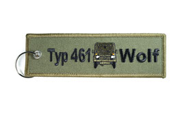 10 X Typ 461 Wolf Key Ring Set - medium Wolfpack - Wolfsrudel