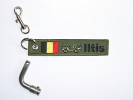 5.0 Iltis Key Ring Belgium Forces - green open