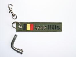 5.0 Iltis Key Ring Belgium Forces - green open