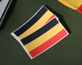 10.0 Belgium Flag Sticker for Retro Number Plates