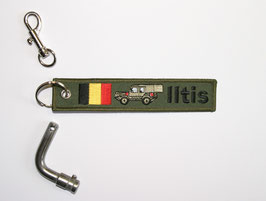 7.0 Iltis Key Ring Belgium Forces - green closed SAN