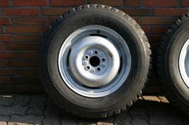 ILTIS Räder 2 Stück - gestrahlt und vollständig verzinkt - Reifen neu aufgezogen - neue Ventile
