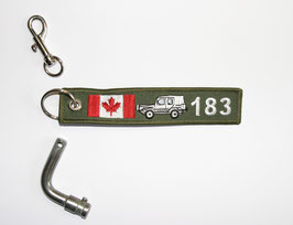 11.0 Canadian Polecat Key Ring - closed