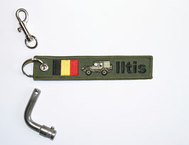 6.0 Iltis Key Ring Belgium Forces - green closed