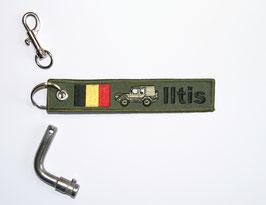 6.0 Iltis Key Ring Belgium Forces - green closed