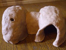 Ton Natur Hamster Mäuse Haus-Höhle mit Schlafraum, Futterraum