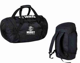 MN1989-08 Sac de sport 2 en 1 jako  noir (sac et sac à dos)