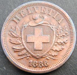 2 Rp. 1886 Schweiz