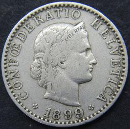 20 Rp. 1899 Schweiz