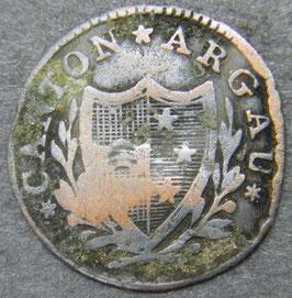 Aargau 2 Rappen 1814