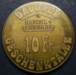 DAVOS 10 Fr. Geschenktaler