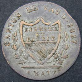 Canton de Vaud 1 Batzen 1827