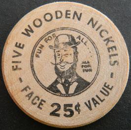 Malamute Saloon Alaska 5 Wooden Nickels