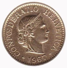 10 Rp. vergoldet 1967 Schweiz