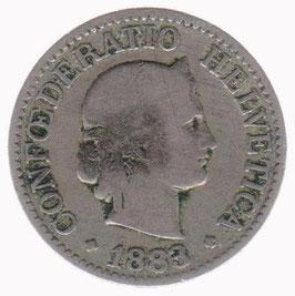 10 Rp. 1883 Schweiz