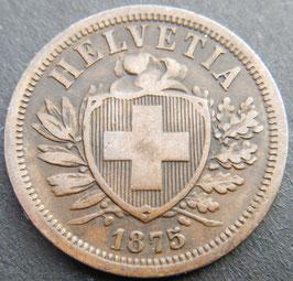 2 Rp. 1875 Schweiz