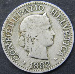 10 Rp. 1882 Schweiz