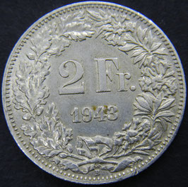 Schweiz 2 Fr. 1943