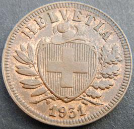 2 Rp. 1931 Schweiz