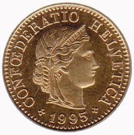 5 Rp. vergoldet 1995 Schweiz