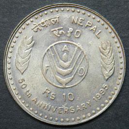 Nepal 10 Rupee 1995