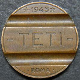 TETI ROMA 1945 GETTONE TELEFONICO