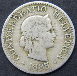 10 Rp. 1885 Schweiz