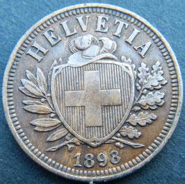 2 Rp. 1898 Schweiz
