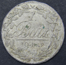 Canton de Vaud 1 Batzen (10 Rappen) 1810