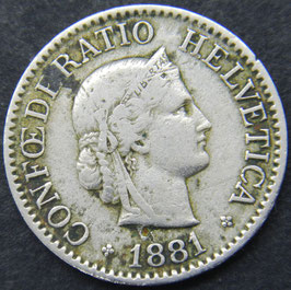 10 Rp. 1881 Schweiz