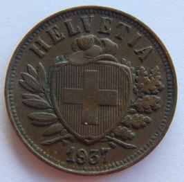 2 Rp. 1937 Schweiz