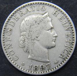 20 Rp. 1897 Schweiz