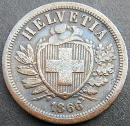 2 Rp. 1866 Schweiz