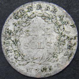 Genève 6 Sols 1795