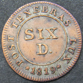Genève 6 Deniers 1819
