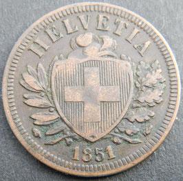 2 Rp. 1851 Schweiz