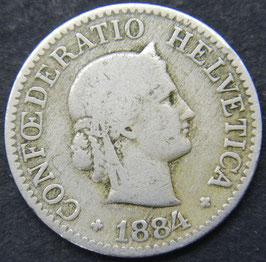 10 Rp. 1884 Schweiz