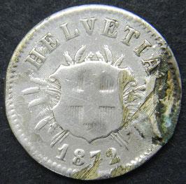 5 Rp. 1872 Schweiz