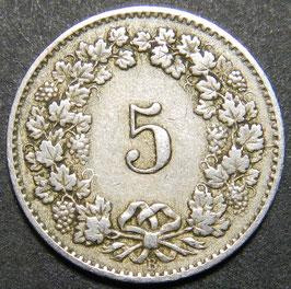 5 Rp. 1879 Schweiz
