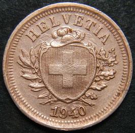 """1 Rp. 1940 Schweiz  """"Leerschlag"""""""