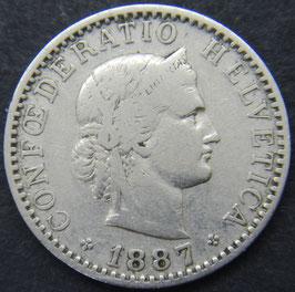 20 Rp. 1887 Schweiz
