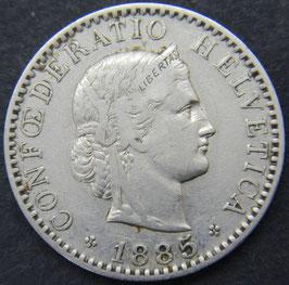 20 Rp. 1885 Schweiz