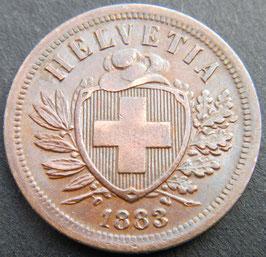 2 Rp. 1883 Schweiz