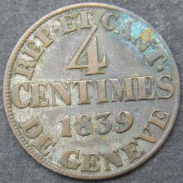 Genève 4 Centimes 1839